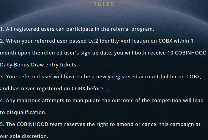10 Extra Gratis Bonus Draw Entry Ticket Voor Cobinhood Crypto Exchange!!!